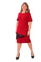 Платье красное большие размеры, новий рік ,весільна сукня , великі розміри , червоне Пл 178