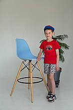 Літній костюм для хлопчика, футболка і шорти,  Power, червоний SmileTime