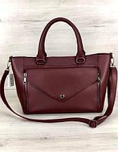 Стильная классическая женская сумка Aliri-545-27 бордовая