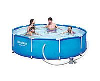 Bestway 56408, каркасный бассейн 305 x 76 см Steel Pro Frame Pool (intex 28202)