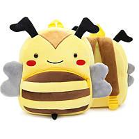 Плюшевый детский рюкзак Пчелка