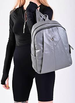 Жіночий сірий рюкзак код 7-1776