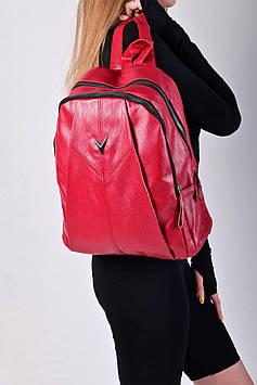 Жіночий червоний рюкзак код 7-1776