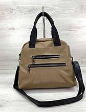 Женская вместительная сумка Aliri-620-01 кофейного цвета