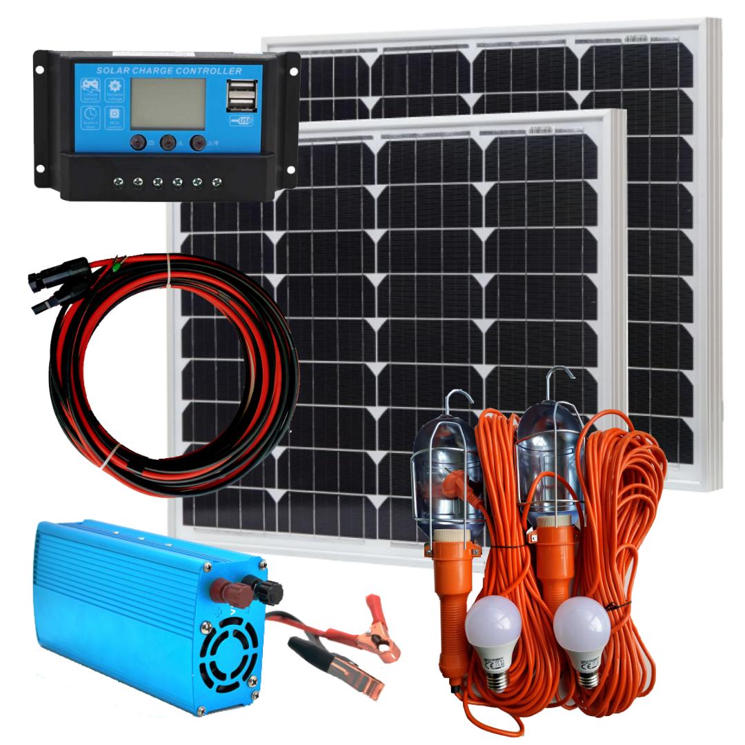 100 Вт солнечное зарядное устройство Зарядка-100+220В с комплектом светильников
