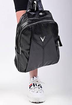 Жіночий чорний рюкзак код 7-1776