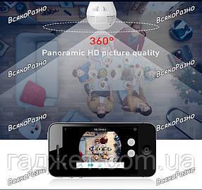 & Панорамная WiFi камера 3D лампочка с детектором движения. Камера лампа