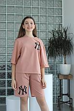 Дитячий спортивний костюм для девочк, літній з шортами Лола | на зріст 122-140р, фото 2
