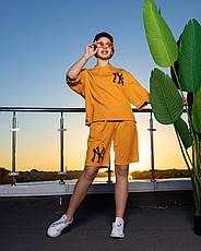 Дитячий спортивний костюм для девочк, літній з шортами Лола | на зріст 122-140р, фото 3