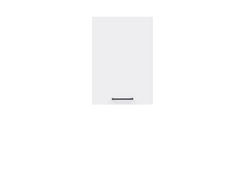 Шкаф навесной правый G1D/40/57p Junona Line BRW белый/белый глянец
