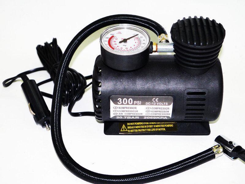 Повітряний компресор Air Compressor 300pi DC-12V PSI в авто портативний багатофункціональний насос