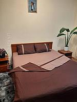 Двуспальное постельное бязь 100% хлопок Дуэт коричневый