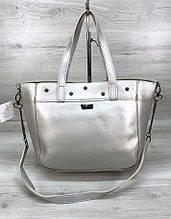 Вместительная женская сумка Aliri-555-31 серебристая