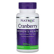 """Клюква Natrol """"Cranberry"""" для здоровья мочевыводящих путей, 800 мг (30 капсул)"""