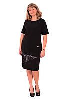 Маленькое черное платье  большого  размера, новий рік ,весільна сукня , великі розміри , чорне Пл 178-1.