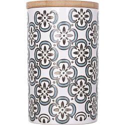 Керамічна банку з бамбуковою кришкою Limited Edition Elly 700 мл