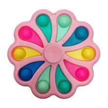 Сенсорная игрушка Simple Dimple поп ит антистресс симпл димпл  Цветок спинер
