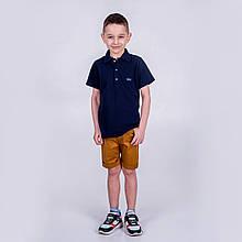 Поло теніска з коротким рукавом для хлопчика синя  SmileTme Classic