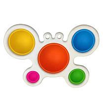 Сенсорная игрушка Simple Dimple поп ит антистресс симпл димпл краб большой