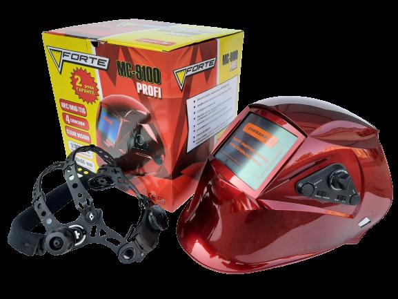Сварочная маска Хамелеон Forte МС-9100 Маска сварщика 4 сенсора Функция Сlear Vision Сменная батарея