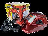 Сварочная маска Хамелеон Forte МС-9100 Маска сварщика 4 сенсора Функция Сlear Vision Сменная батарея, фото 1