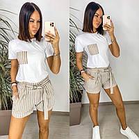 Жіночий літній спортивний костюм,женская летняя спортивная одежда футболка шорты