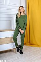 Прогулянковий спортивний костюм жіночий на літо з лампасом великі розміри батал 50-56 арт. р 15206 /1
