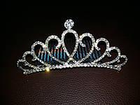 Корона - Гребешок для волос с кристалликами - серебристого цвета