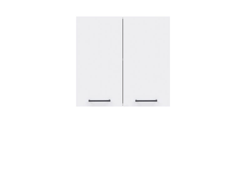 Шкаф навесной G2D/60/57 Junona Line BRW белый/белый глянец