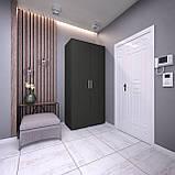 Шкаф распашной 2 двери, платяной с полками, шкаф в прихожую, в спальню S-10, фото 6