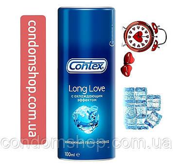 Интимный гель-смазка Contex Long Love Лонг лав 100  мл для продления удовольствия с охлаждающим эффектом