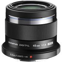 Об'єктив OLYMPUS ET-M4518 45mm 1:1.8 Black (V311030BE000)