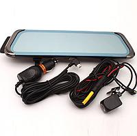 """Дзеркало-відеореєстратор сенсорний H90 9,6"""" на 2 камери, фото 1"""
