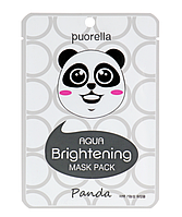 Осветляющая маска для лица «Панда» Puorella Whitening Mask Pack