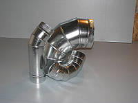 Колено вентиляционное 90*