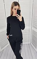 Легкий спортивный трикотажный костюм арт. 418 , цвет черный
