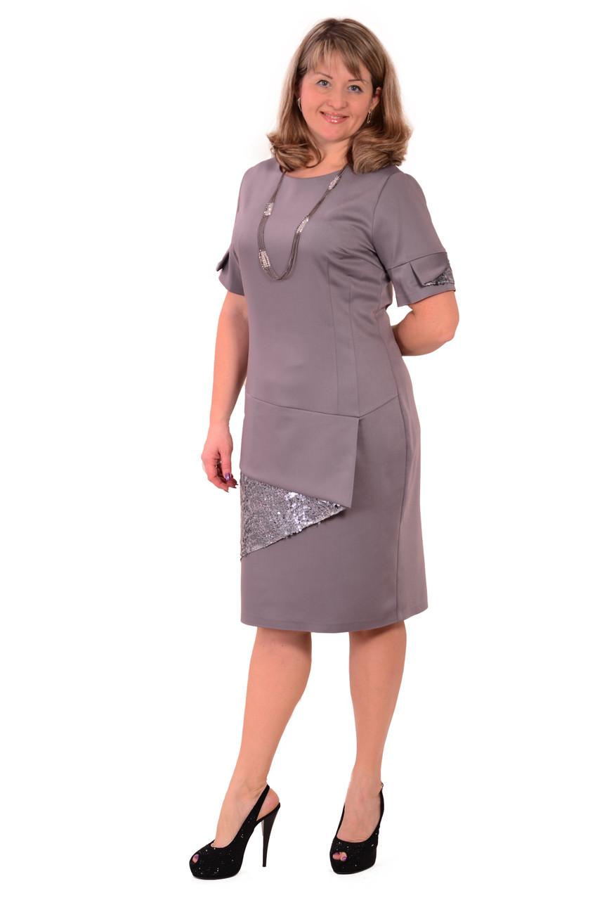 Світло-сіра сукня великого розміру, новий рік ,весільна сукня , великі розміри , світле Пл 178-2.