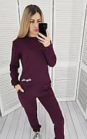 Легкий спортивный трикотажный костюм арт. 418 , цвет бордо