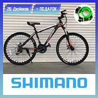 Горный велосипед TopRider 611 Cпортивный велосипед 26 дюймов Топ Райдер Рама 17 Колеса 26 Черно-ОРАНЖЕВЫЙ