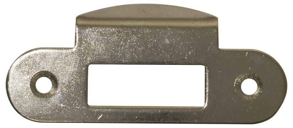 AGB B010001306  Ответная планка к замку, никель     с отбойником (2836)