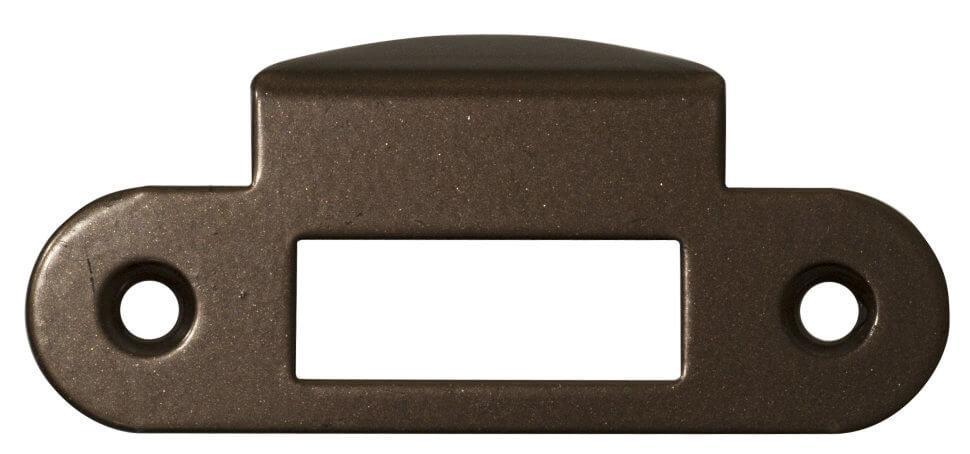 AGB B010001322 Ответная планка к механизму, с полукруглым отбойником, античная бронза (27918)