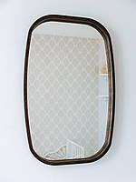 Прямоугольное зеркало в прихожую из дерева в раме 60*90см Luxury Wood