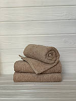 Махровий рушник для рук горіховий, 40*70 см, Туркменістан, 430 гр\м2