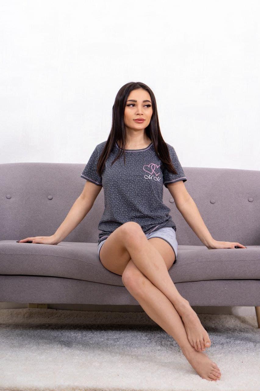 Піжама шорти з футболкою Туреччина бавовна
