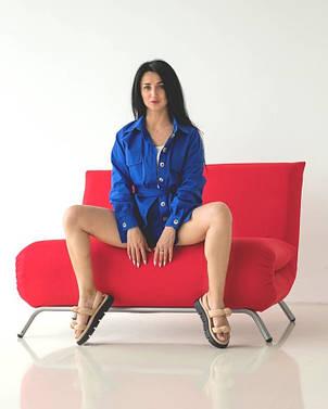 Модный женский костюм цвета электрик, фото 2