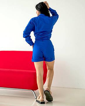 Модный женский костюм цвета электрик, фото 3