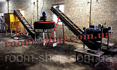 Бетонный узел, ленточный конвейер, ковшовый, транспортер, бетоносмеситель, растворомешалка, бетонный завод