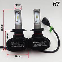 Светодиодные лампы для авто LED S1 H7, 6500K  ближний/дальний/противотуманки Автолампы в Украине