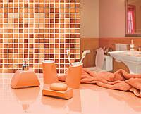 Набор аксессуаров для ванной комнаты из 4 предметов Акик оранжевого цвета
