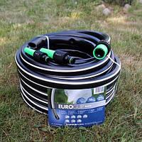 """Шланг садовый диаметр 1"""" длина 50м стойкий к ультрафиолету и механическим воздействиям Италия черный"""